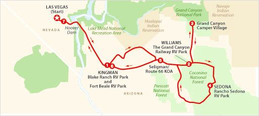 Grand Canyon And Las Vegas Tour - Las vegas grand canyon map