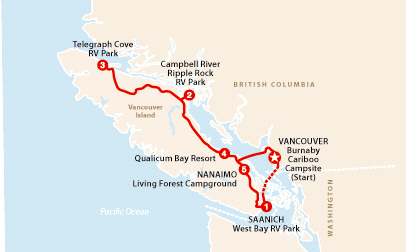 Ruta en Autocaravana Vancouver Island