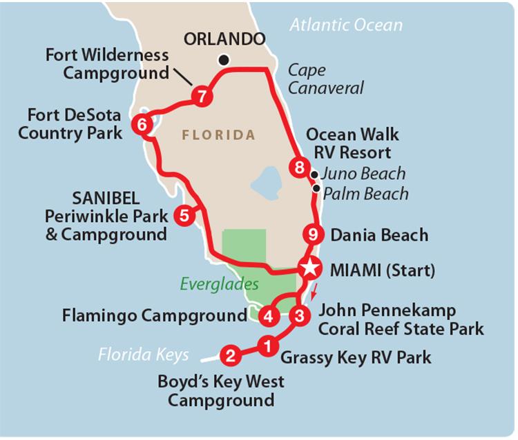 Playas de Florida y sus Cayos